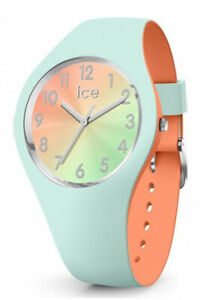 Ice Duo Chic Aqua Coral Small 3H Watch 16981