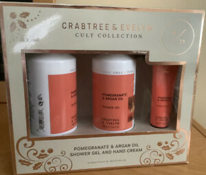 Crabtree Evelyn Pomegranate & Argan Oil Shower Gel And Hand Cream Set