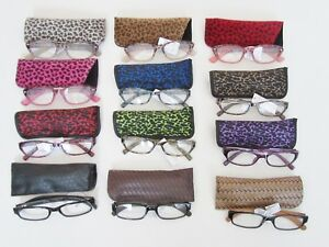 Reading Glasses  Women's Ladies Lightweight With Case Readers Specs