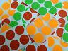 rojo, naranja, verde color de etiquetas adhesivas, Circular Redondo pegatinas