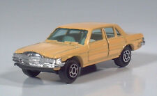 """Vintage Yatming 1012 Mercedes Benz 450 SEL 3"""" Scale Model With Tow Hitch Peach"""