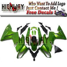 ABS Fairings For Kawasaki ER6F Ninja 650 09-11 ABS Bodywork Kit Green Frame
