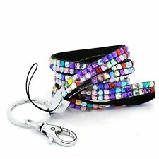Bling Rhinestone Ring Key Cellphone Holder Custom  ID Badge