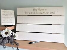 Wedding Guest Book Personalised SIGNING PALLET Drop Box Alternative Rustic Cream