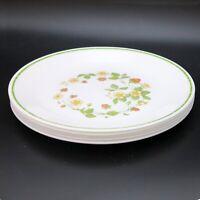 Corolle Lunch Plates Strawberry Sundae lot of 5 Dinnerware White