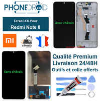 Écran complet LCD + tactile Xiaomi Redmi Note 8 Black + Outils, stock FR