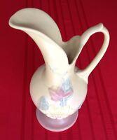 """Hull Art Pottery Large Ewer Magnolia Pattern USA #18  - 13 1/2"""""""