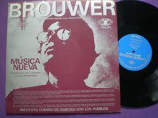 BROUWER/CARLOS FARIÑAS...Nueva CUBA LP ICAP 1970s NM Contemporary Avant-Garde