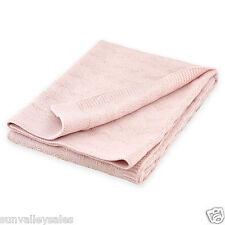Just Born Pink Sparkle Chevron Knit Sweater Baby Stroller Blanket