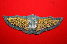 VIETNAM  CAMBODIA CAMBODIAN KHMER AIR FORCE PILOT'S WING BULLION WIRE