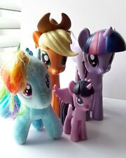"""My Little Pony Lot of 4 Including 1 Ty Plush Rainbow Dash Two 5"""" Dolls One 3"""""""