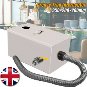 Commercial Grease Trap Interceptor Wastewater Waste Water Oil Stainless Steel UK
