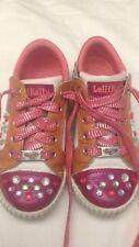 Lellikelly - scarpe da bambina - bianche rosa bronzo con perline - N° 29 - USATE