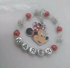 Childs Personalised Minnie Mouse Bracelet