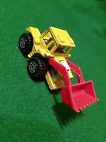 Matchbox Superfast No 29 Tractor Shovel Lemon Yellow Base England chrome