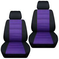 Fits 2012-2019 Kia Sportage  front set car seat covers    black and purple