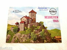 Kibri Prospekt Neuheiten 1965 Spur H0 Top