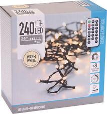 Lichterkette 240 LED - 24m - mit Fernbedienung Timer Dimmer 8 Funktionen - Außen