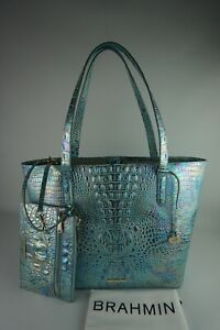 Authentic Brahmin Brooke Wonderland Melbourne Leather Tote w/Pouch -NWT