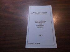 1976 CANADIAN NATIONAL NEWFOUNDLAND NORTH COAST LABRADOR FERRY SERVICE TIMETABLE