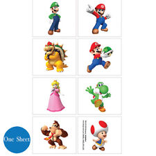 Super Mario Party Supplies TATTOOS SHEET Favour Genuine