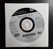 *NEW* HP Windows 7 Professional SP1 64 Bit Restore Recovery OEM DVD Disc