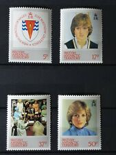 British Antarctic Terr 1982 21st Birthday of Princess of Wales. 4 stamp set MNH