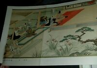 WOODBLOCK JAPAN PICTURE PRINT WOODCUT 1930s International Graphic Magazine 23x11