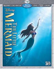 The Little Mermaid (Blu-ray/DVD, 2013, 3-Disc Set, Diamond Edition Includes Digital Copy 3D)