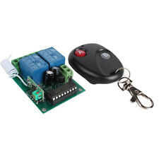 12V 2 Channel Jog Wireless Remote Controller Control Switch Board Fixed Code