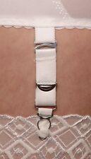 Sets 4-12 of Suspender Hooks, Adjustable White / Black for Stockings, Suspenders