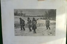 A.B. FROST ANTIQUE PRINT 1891 ARTHUR BURNETTE FROST MINSTREL TRAVELING WINTER
