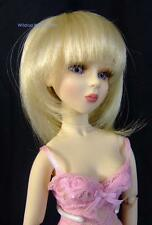 size 7/8 DOLL WIG - For ..  MINI SUPER DOLLFIE BJD  .. Chari Wig  .. Pale Blonde