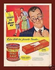Camel Cigarettes Fathers Day - Vintage Ad Fridge Magnet