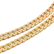 Classics Men 14k Solid Gold GF Cuban Link Chain Real Plated Curb Necklace