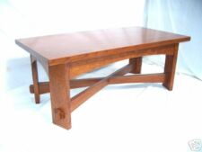 BIG 5/4 COFFEE TABLE THROUGH WEDGED TENNONS OAK MISSION FREE SHIPPING