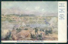 Militari 11º Reggimento Fanteria Isonzo 1917 PIEGHINA cartolina XF4406
