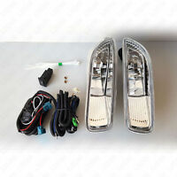 For 03-04 Toyota Corolla Clear Lens Bumper Driving Fog Lights Kit w/Switch Bulbs