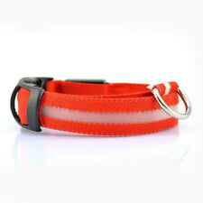AZAM Protective Rechargable LED Dog Pet Collars Red