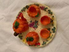 Pumpkin Miniature Tea set with Fruit Base Plate