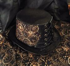 Steampunk Top Hat Corset Band Clock Face Biker Gothic Rock feeanddave