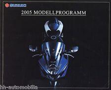 Prospekt Suzuki 2005 Motorrad Broschüre DR-Z 400 E GSX 1400 Hayabusa GS500 JR50