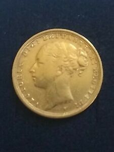 Victorian Sovereign Young Head 1887.
