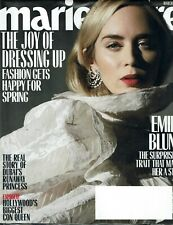 MARIE CLAIRE Magazine March 2020 Issue Emily Blunt Article -- Full Cover