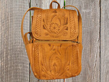 Ropin West Tooled Turquoise Leather Backpack Purse | eBay