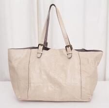 GERARD DAREL Beige Snakeskin Convertible Shopper Tote Handbag Bag Purse