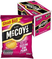 McCoy's Ridge Cut Crisps Sizzling King Prawn Flavoured Potato Crisp Snacks, 36pk