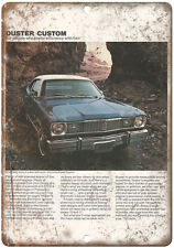 """1975 Plymouth Duster Custom Car Sales Flyer Ad 10"""" x 7"""" Reproduction Metal Sign"""