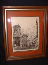 Margaret Elder Philbrick (1914-1999) Signed Serigraph Old Boston Kings Chapel