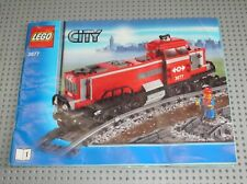 Notice Building instruction booklet N°1 LEGO CITY TRAIN set 3677 Red Cargo Train